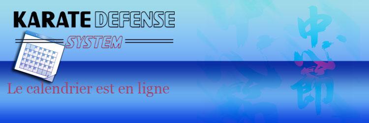 Stages KARATE DEFENSE SYSTEM : les dates sont disponibles dans la rubrique «Calendrier»