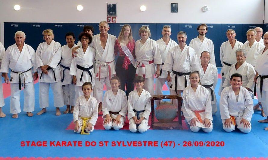 STAGE A ST SYLVESTRE LE 26/09/2020