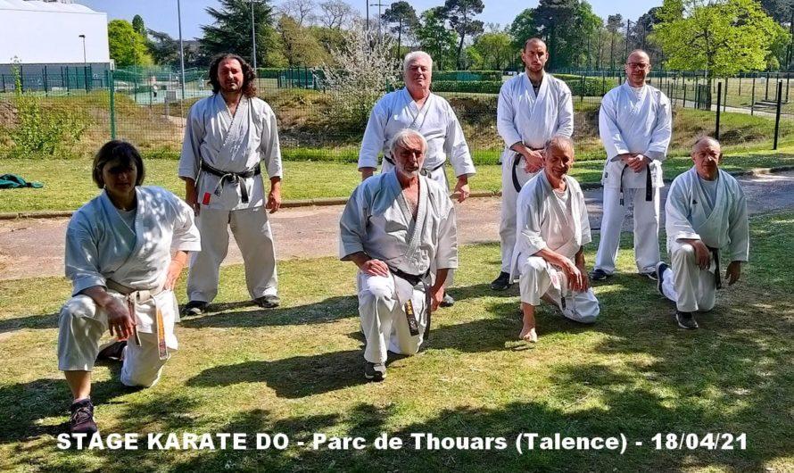 STAGE AU PARC DE THOUARS – TALENCE -33- le 18/04/2021