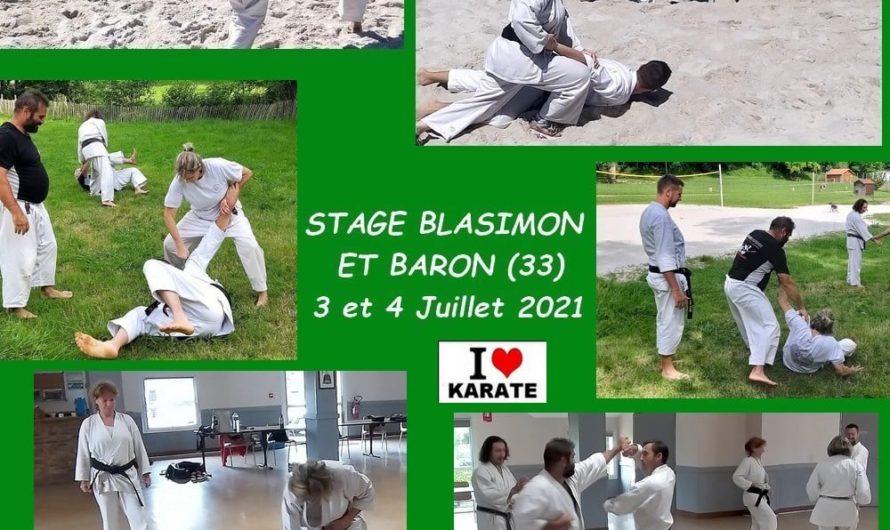 STAGE A BLASIMON (33) les 3 et 4/07/2021